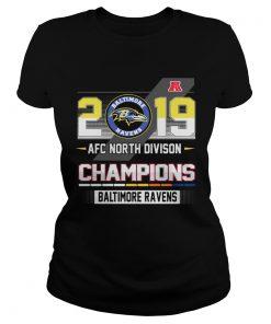 Baltimore Ravens 2019 AFC North Divison Champions  Classic Ladies