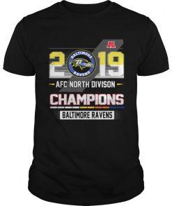 Baltimore Ravens 2019 AFC North Divison Champions  Unisex