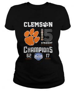 Clemson Tigers football 5 Straight 2019 Champions  Classic Ladies