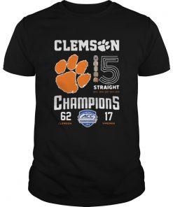 Clemson Tigers football 5 Straight 2019 Champions  Unisex