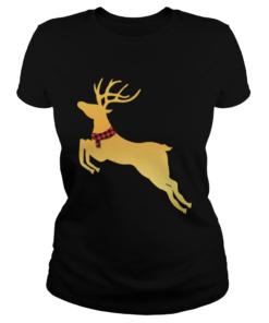 Deer Chrismas Gold  Classic Ladies