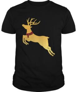 Deer Chrismas Gold  Unisex