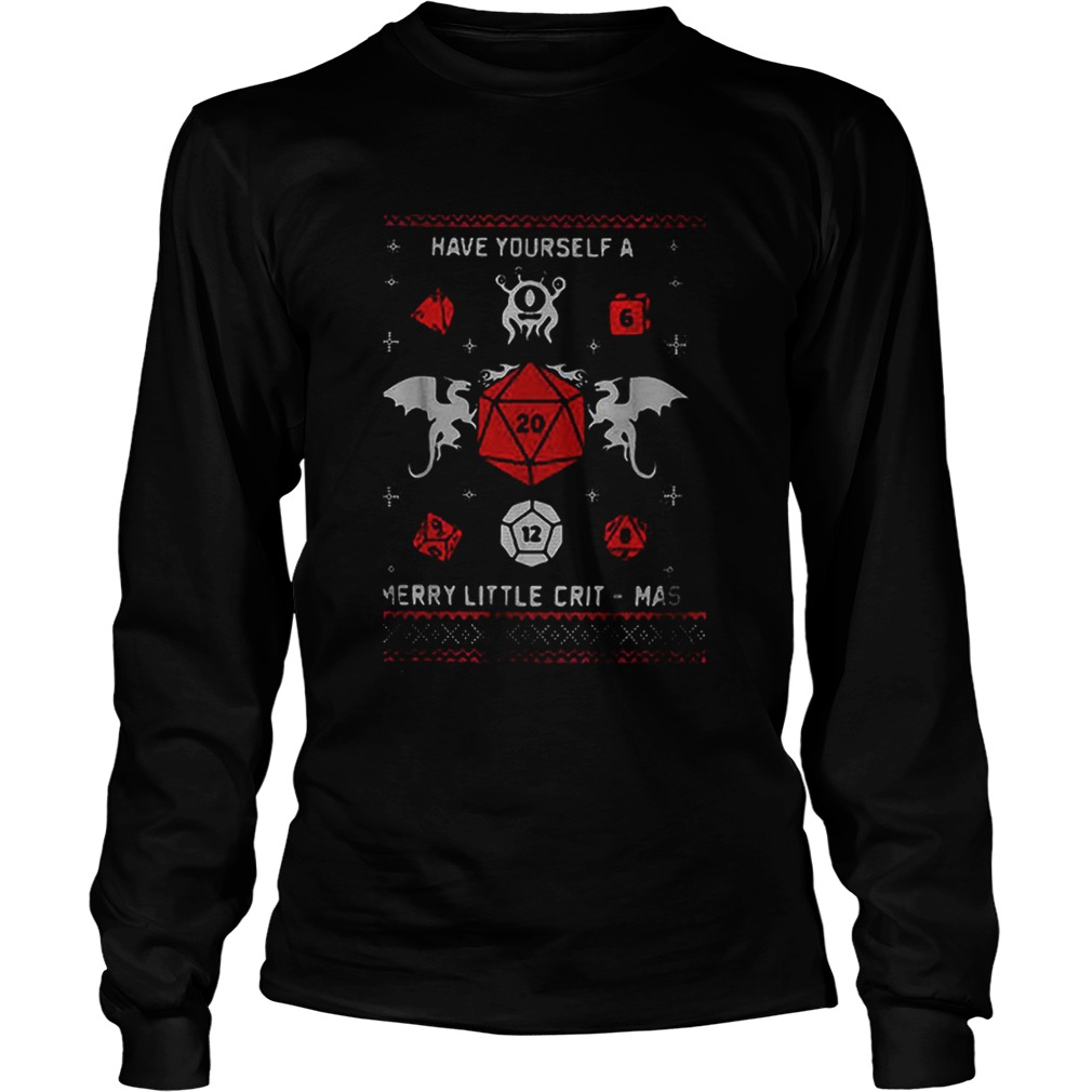 Dungeons Dragons Have Yourself A Merry Little Critmas Christmas Shirt Masswerks Store