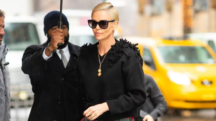 Charlize Theron Gives This Classic Festive Print a Sophisticated Update