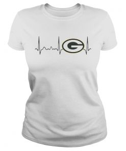 Green Bay Packers heartbeat  Classic Ladies