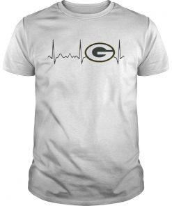 Green Bay Packers heartbeat  Unisex