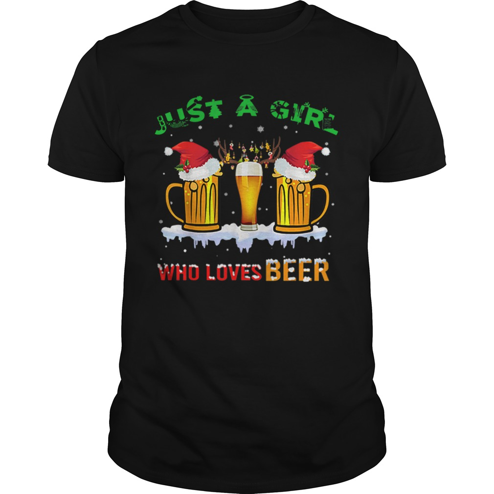 Just A Girl Who Loves Beer Christmas Shirt Masswerks Store