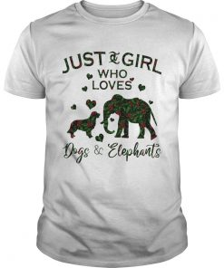 Just A Girl Who Loves Dog And Elephants  Unisex