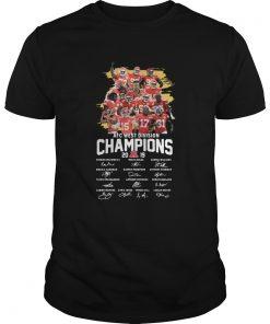 Kansas City Chiefs 2019 AFC West Division Champions Signatures  Unisex