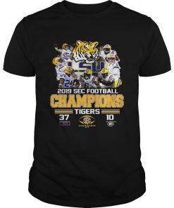 LSU Tigers 37 Georgia Bulldogs 10 Score 2019 SEC Champions  Unisex