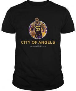 LeBron James Los Angeles Lakers 23 city of angels  Unisex
