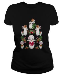 Llama Christmas Tree  Classic Ladies