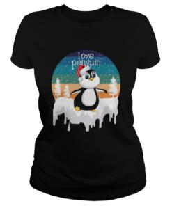 Love Penguin In Santa Christmas Gift For Animal Lover  Classic Ladies