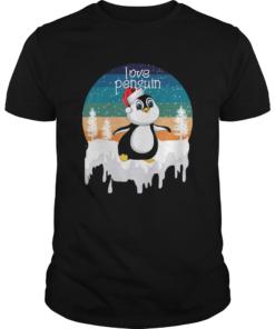 Love Penguin In Santa Christmas Gift For Animal Lover  Unisex