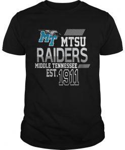MTSU Raiders Middle Tennessee EST1911  Unisex