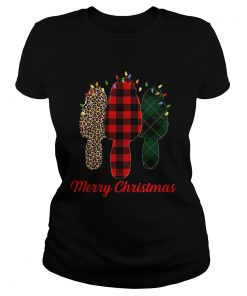 Merry Christmas Morel Buffalo Plaid Gift For Mushroom Hunting  Classic Ladies