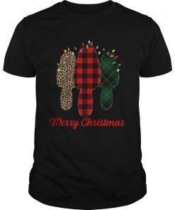 Merry Christmas Morel Buffalo Plaid Gift For Mushroom Hunting  Unisex
