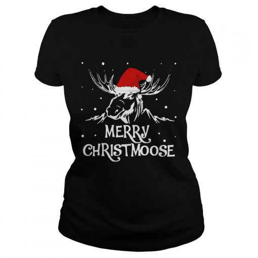 Merry Christmoose Christmas  Classic Ladies