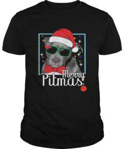 Merry Pitmas Pitbull Dog Funny Ugly Christmas  Unisex
