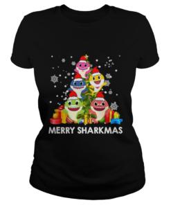 Merry Sharkmas Shark Santa Ugly Christmas Lights Boys Xmas  Classic Ladies