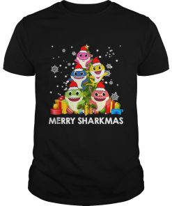 Merry Sharkmas Shark Santa Ugly Christmas Lights Boys Xmas  Unisex