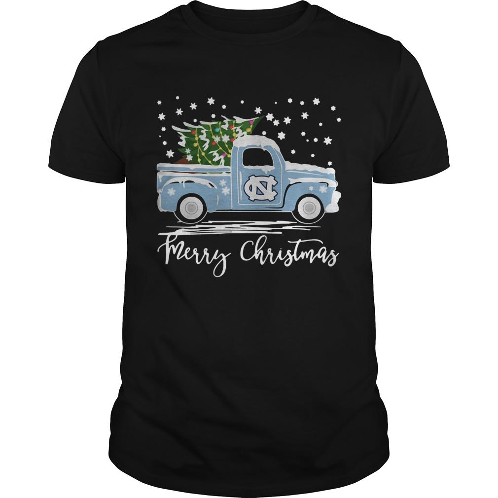 North Carolina Tar Heels Pickup Truck Merry Christmas Shirt Masswerks Store