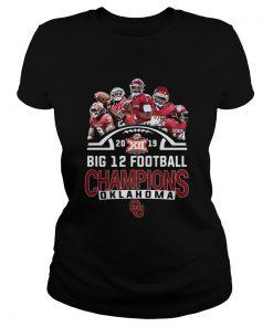 Oklahoma Sooners signatures Big 12 Football Champions 2019  Classic Ladies