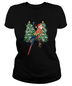 Parrot Watercolor Christmas  Classic Ladies