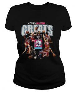 Philadelphia 76ers alltime Greats Players Signatures  Classic Ladies
