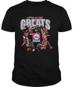Philadelphia 76ers alltime Greats Players Signatures  Unisex