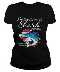 Phlebotomist Shark In Santa Hat Christmas  Classic Ladies