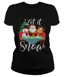 Santa Claus Reindeer Snowman Cocaine Let It Snow  Classic Ladies