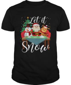 Santa Claus Reindeer Snowman Cocaine Let It Snow  Unisex