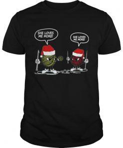 She Loves Me More Yarn Santa Xmas Gift For CrochetKnitting  Unisex