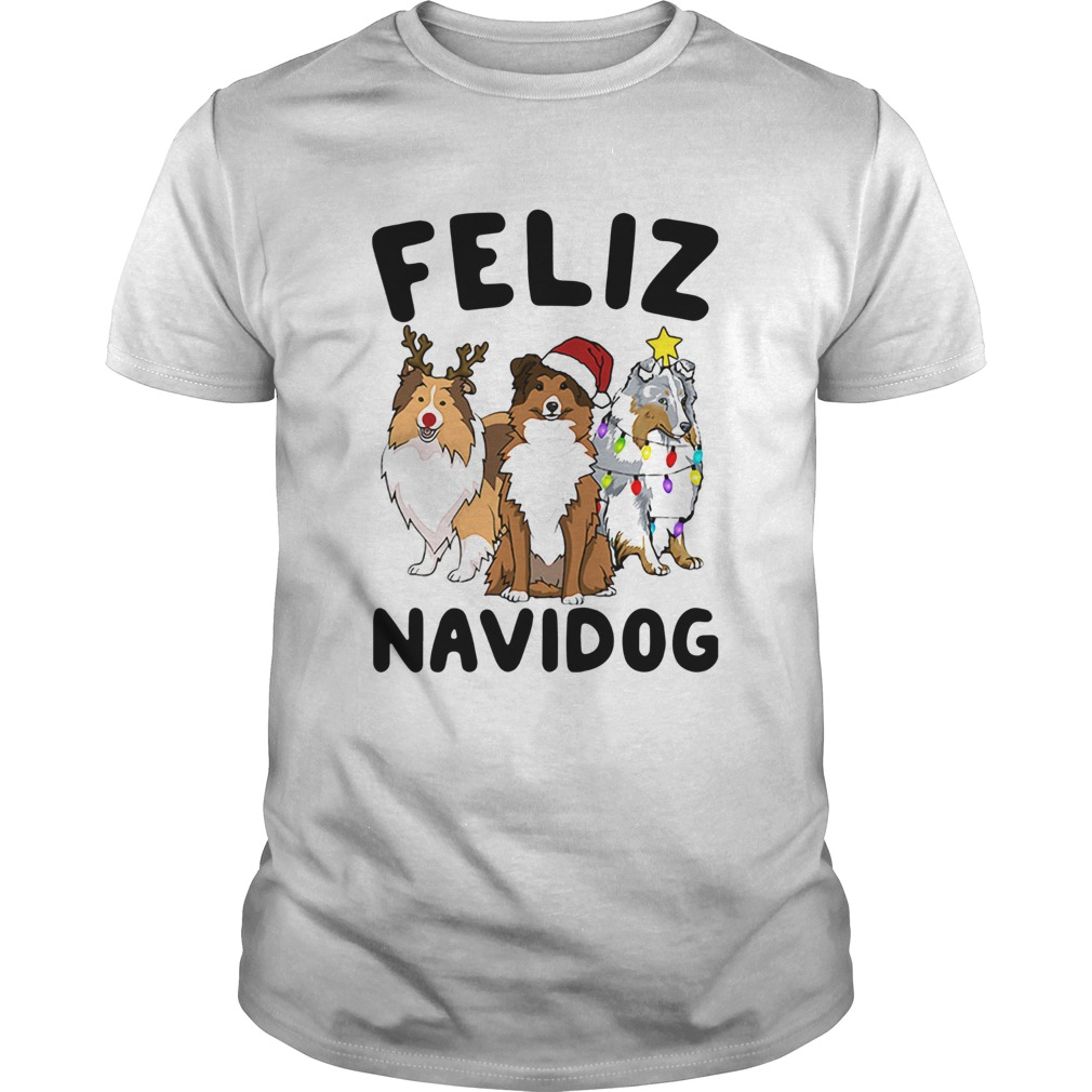 Shetland Sheepdogs Feliz Navidog Shirt Masswerks Store