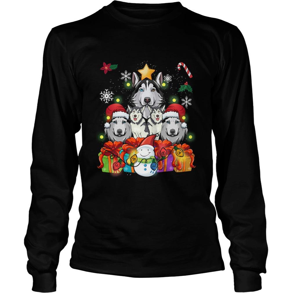 Siberian Husky Christmas Tree Decor Gift Paws Xmas Shirt Masswerks Store