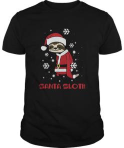 Slothmas Sloth In Santa Hat Christmas  Unisex