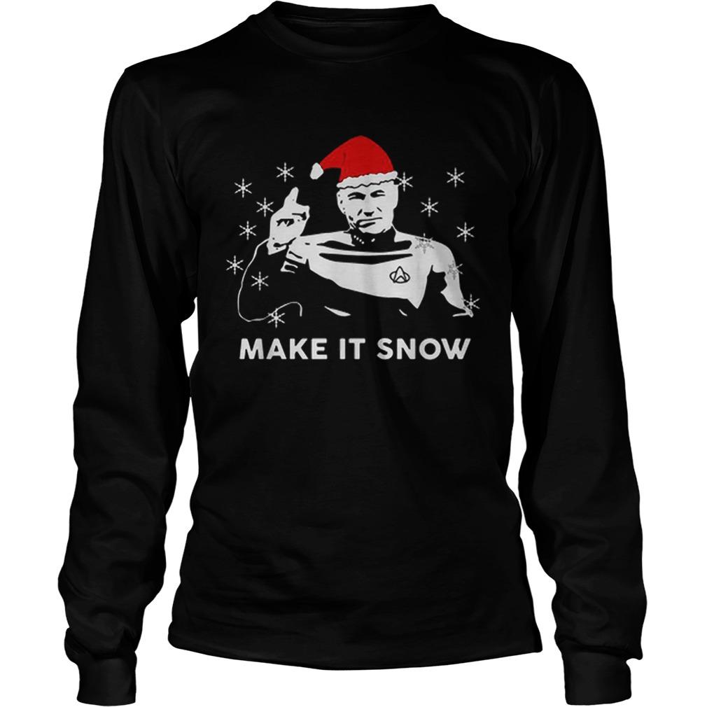 Star Trek Santa Make It Snow Christmas Shirt Masswerks Store