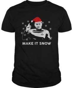 Star Trek Santa make it snow Christmas  Unisex