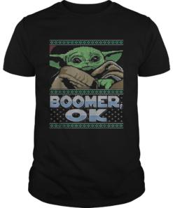 Star Wars Baby Yoda Boomer Ok ugly Christmas  Unisex
