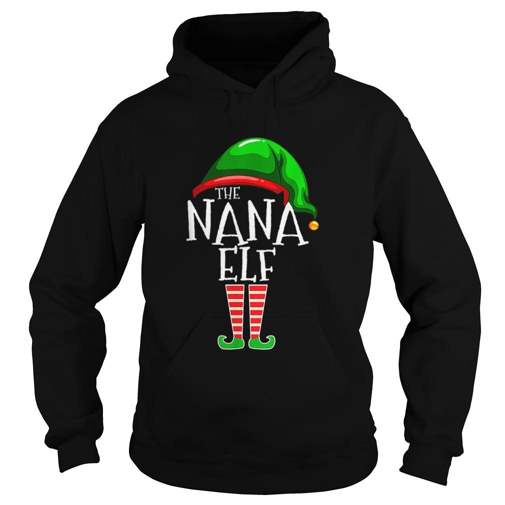 The Nana Elf Family Matching Group Christmas Hoodie