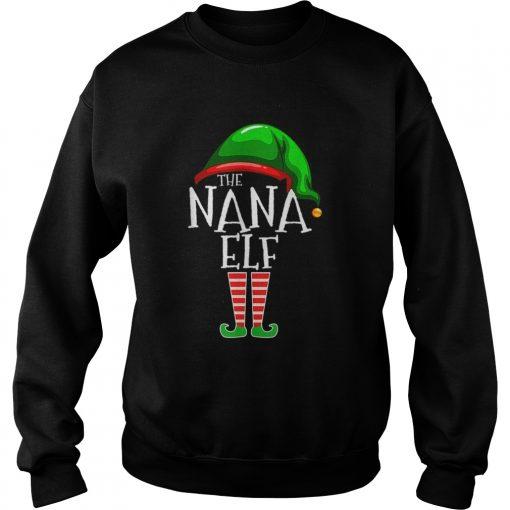 The Nana Elf Family Matching Group Christmas  Sweatshirt