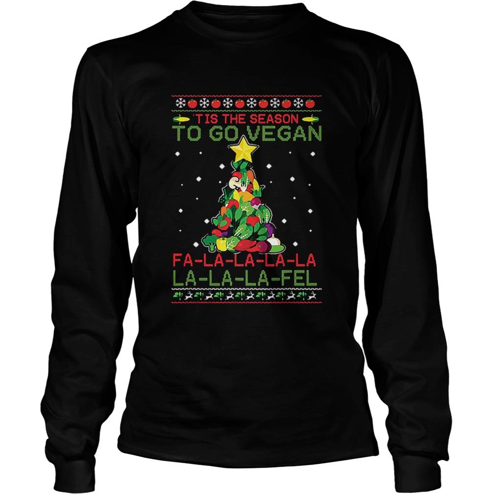 Tis The Season To Go Vegan Fa La La La Fel Ugly Christmas Shirt Masswerks Store