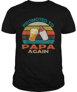Vintage Promoted to Papa Again Christmas  Unisex