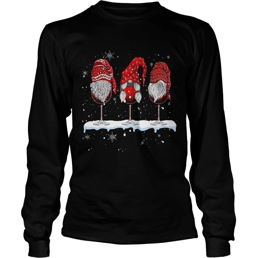 Wine Glasses Gnomies Christmas Shirt Masswerks Store