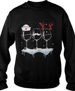 Wine Nurse Christmas  Sweatshirt
