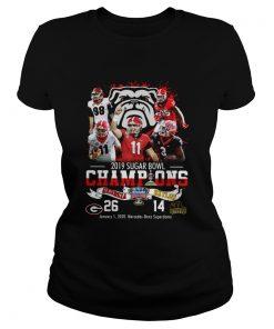 2019 Sugar Bowl Champions Georgia Bulldogs Baylor Bears  Classic Ladies