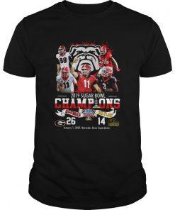 2019 Sugar Bowl Champions Georgia Bulldogs Baylor Bears  Unisex