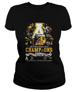 Appalachian State Mountaineers 2019 New Orleans Bowl Champions  Classic Ladies
