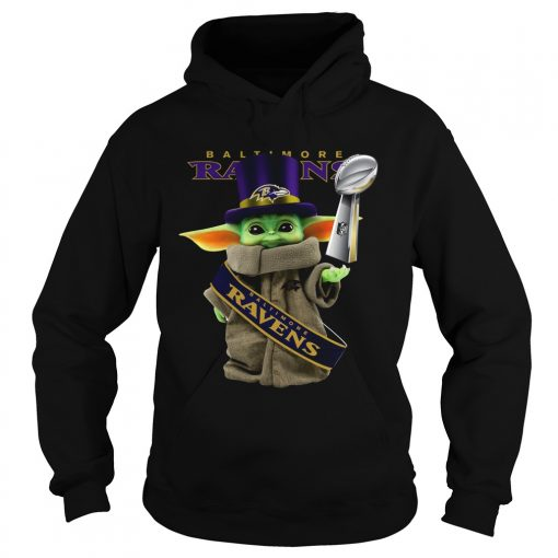 Baby Yoda Baltimore Ravens Cup  Hoodie